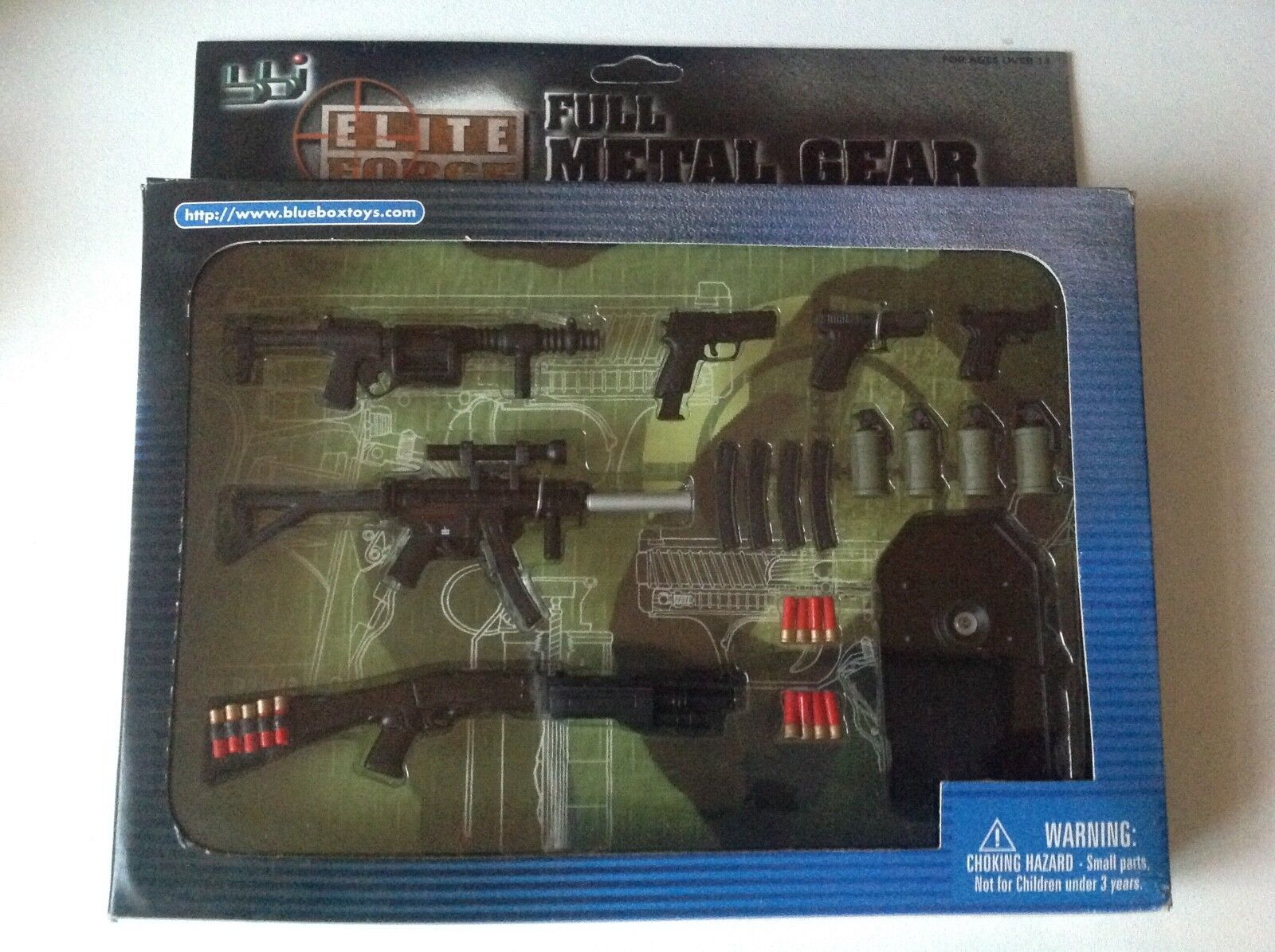 BBI Elite Force Full Metal Gear Real Diecast 1:6 Metal Weapons