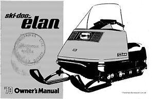 ski doo owners manual book 1973 elan ebay rh ebay com ski doo owners manual pdf ski doo tundra ii owners manual