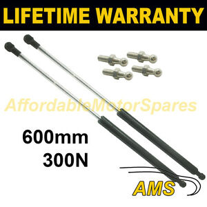 2X-UNIVERSAL-GAS-STRUTS-SPRINGS-KIT-CAR-OR-CONVERSION-600MM-60CM-300N-amp-4-PINS