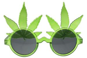 420-Marijuana-Pot-Glasses-Sunglasses-Leaf-Party-Novelty-Green-Gray