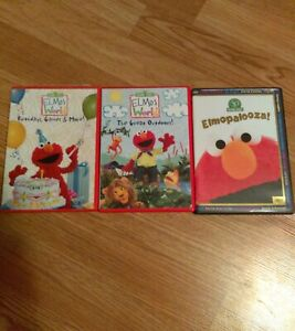 Details About 3 Dvd Lot 2 Elmo S World Birthday Games More The Great Outdoors Elmopalooza