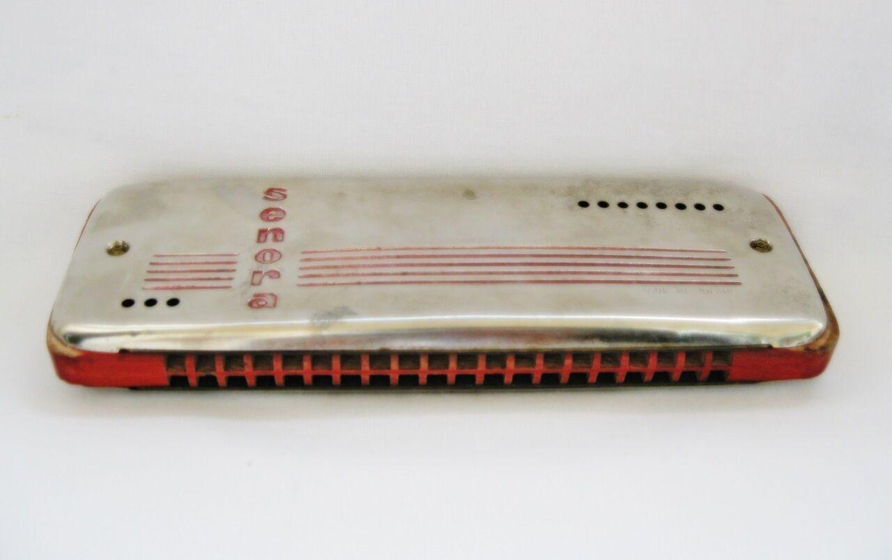 Vintage harmonica Senora Double Side Key of C Key of G Poland Rare