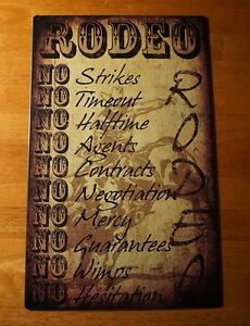 Image Is Loading RODEO RULES NO WIMPS NO MERCY Bull Riding