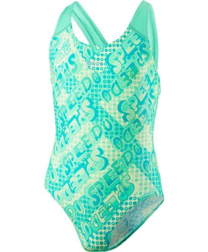 Speedo Space Rock Allover Splashback Girls Swimsuit Swimming Costume