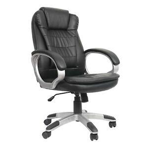 Buerostuhl-Schreibtischstuhl-Kunstleder-Chefsessel-Drehstuhl-Hoehenverstellbar