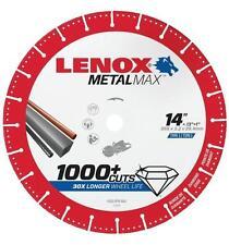 "NEW LENOX 1972932 14"" x 1"" METALMAX GRINDER METAL CUTTING CUT-OFF WHEEL SALE"