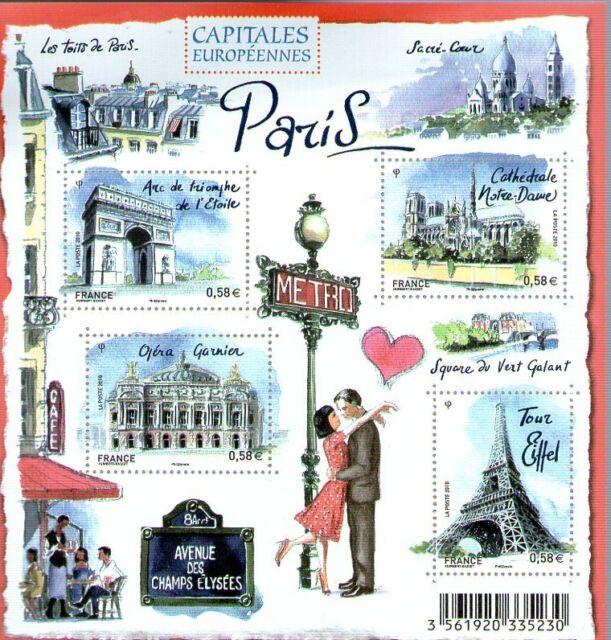FEUILLET N° F4514 NEUF XX  LUXE - PARIS - CAPITALE EUROPEENNE
