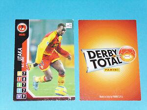JOHN UTAKA RC LENS RCL BOLLAERT SANG & OR PANINI FOOTBALL CARD 2004-2005