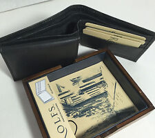 BRAND NEW ROLFS MEN BLACK BI-FOLD WALLET SUPERIOR LEATHER IN BLACK