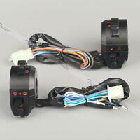 Motorcycle 7/8 Handlebar Horn Turn Signal Headlight Electrical Start Switch Yu