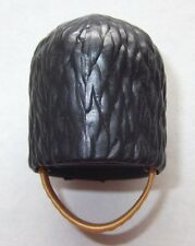07512, 1x Bärenfellmütze, schwarz (mit Kinnriemen), gold