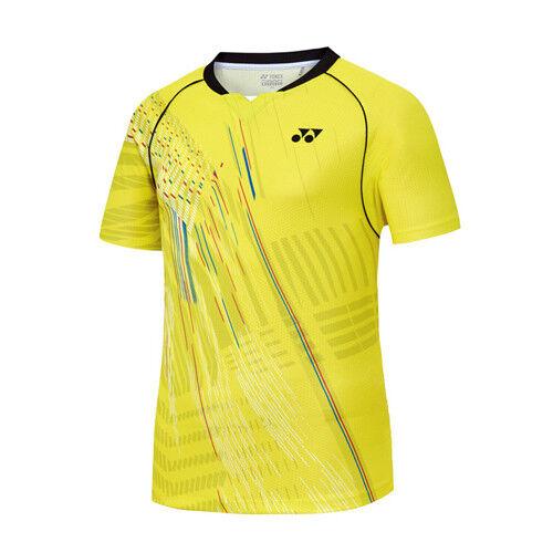 9a265172362 Yonex 2018 SS Collection Men s Badminton Round T-Shirts Yellow NWT  81TS017MYL