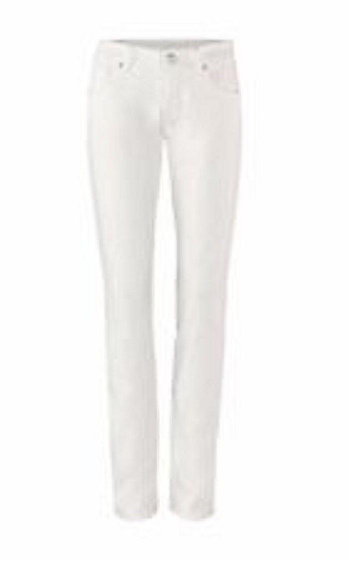 CAbi Slim Boyfriend white stretch denim jean 2017 size 4