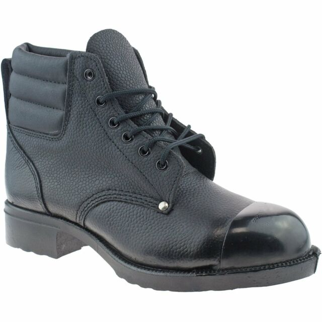 fe318133781 Grafters M492a Mens Leather SB HRO Ankle Heat Resistant Safety BOOTS Black  UK 11