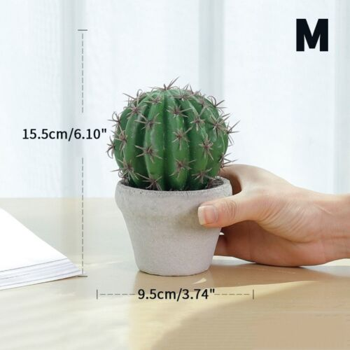 1PC Faux Cacti Potted Plant Artificial Succulent Cactus Plants Home Office Decor