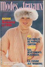 MODES ET TRAVAUX N°1008 novembre 1984 page poupées tricot crochet couture