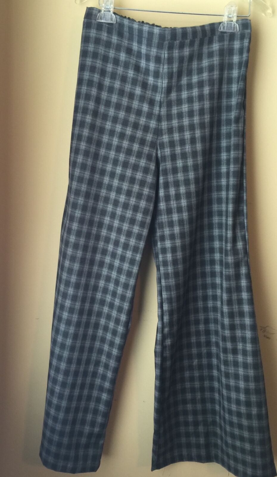 Bryn Walker Grey Plaid Multi Wide Full Leg Pants S