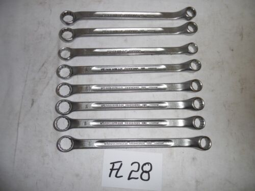 """1x Stahlwille Doppel Ring Ringschlüssel flach 3//4/""""-5//8/"""" ex BW Bundeswehr FL28"""