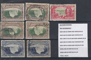 Southern-Rhodesia-1938-Collection-of-7-VFU-J1652