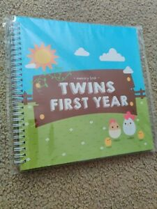 Twins First Year- Milestones / Memory Book by Unconditional Rosie