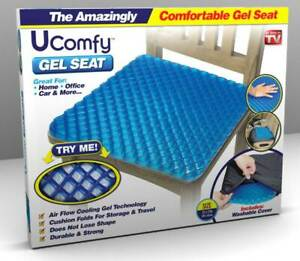 Ucomfy-Gel-Egg-Seat-Optimal-Support-Comfort-Chair-Cushion-As-Seen-on-TV-NEW