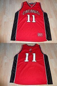 101e75a3494f Men s Cincinnati Bearcats  11 XL Basketball Jersey (Red) Colosseum ...
