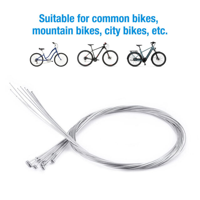 10Pcs 1.75m Road Bike Gear Bicycle Brake Line Shifter Core Inner Cable Wire HB