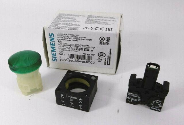 Siemens 3SB3244-6BA40-0CC0 Leuchtmelder grün NEU OVP