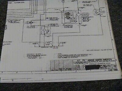 grove mz66a mz76 boom lift hydraulic schematic electrical wiring diagram   ebay