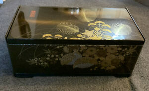 Vintage-Japanese-Plastic-Tissue-Kleenex-Box-Cover-With-Mirror-Dark-Brown-Choc