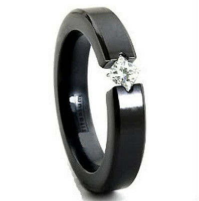 size 11 Black Plated TITANIUM RING BAND with Gold Plated Engraved Accent