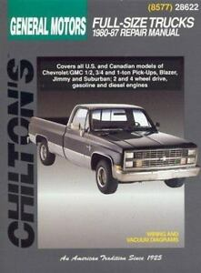 Details about 1980-1987 Chilton GM Full-Size Trucks Repair Manual