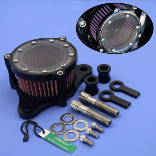 UK CNC Air Cleaner Intake Filter For Harley Sportster iron XL 883//1200 48 custom