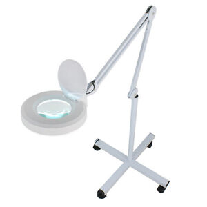 Rolling Adjustable Magnifying Lamp Beauty Standing Mag