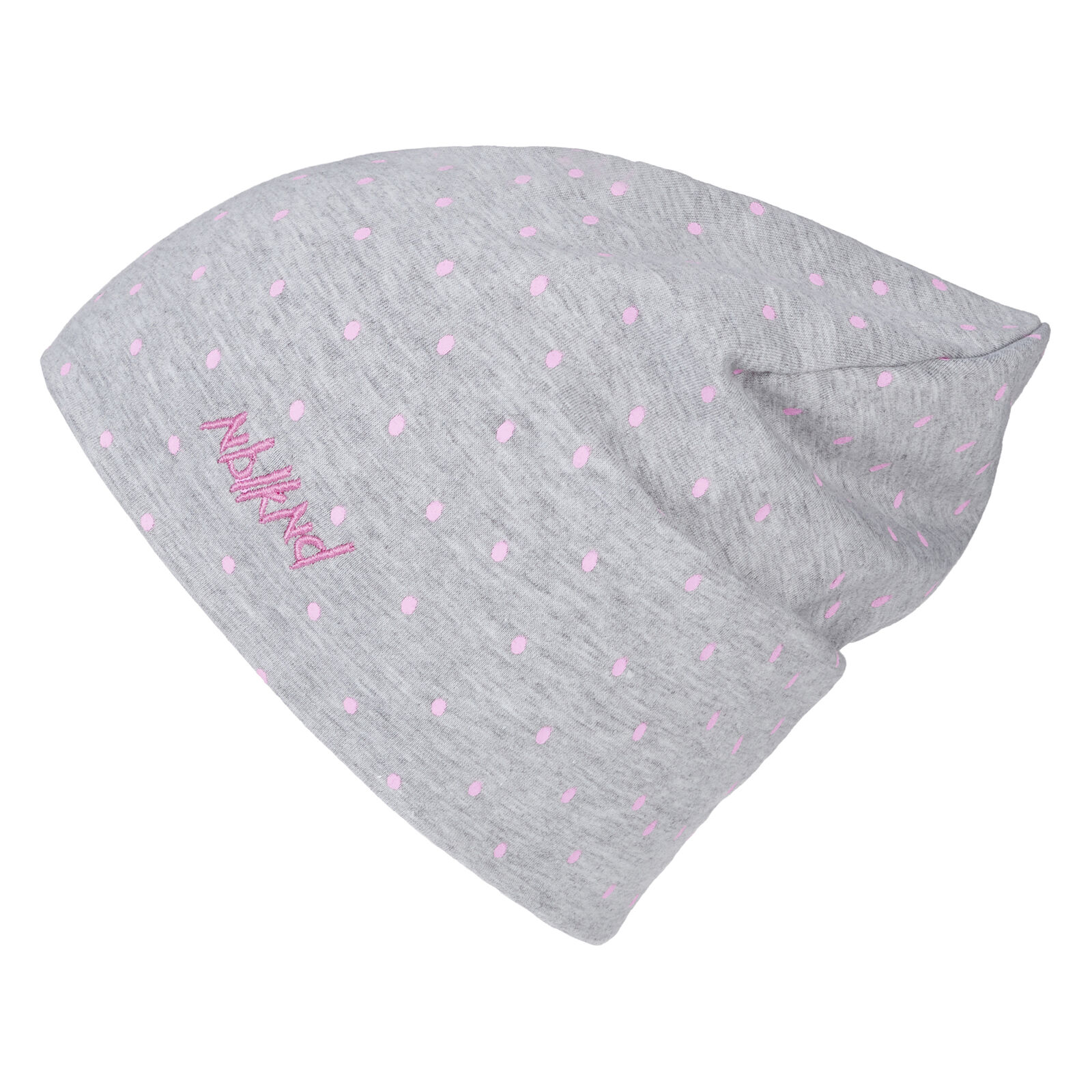 Fog Child Ladies Slouch Summer Beanie Spotted Knit Hat Grey One Size