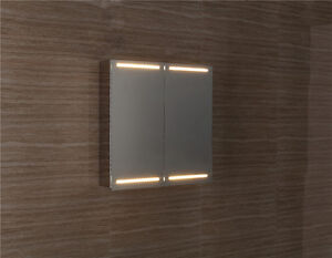 Stainless Steel Double Door Bathroom Cabinet With Lights Water Damaged Box Ebay