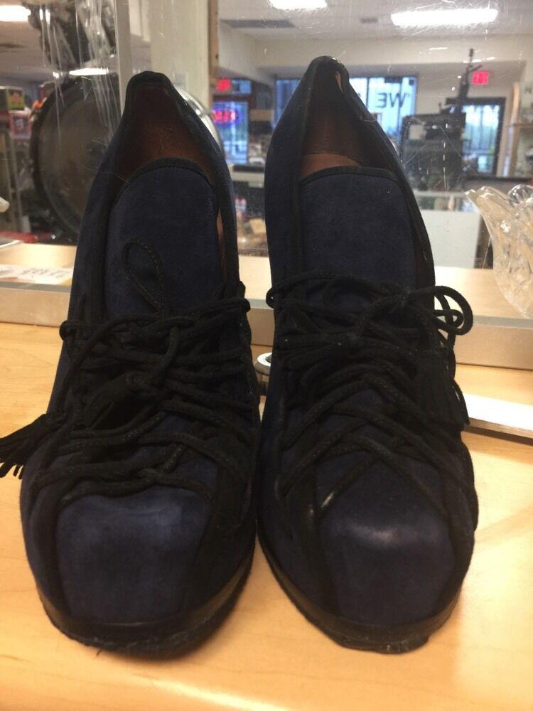 TABITHA SIMMONS DARK blueE  Ankle Booties Boots Sz 38