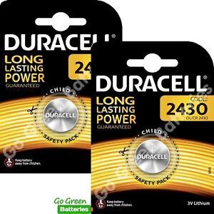 2 x Duracell CR2430 3V Lithium Coin Cell Battery DL2430 K2430L ECR2430 5055414001766