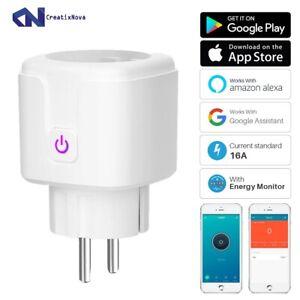 Enchufe inteligente enchufe WiFi Monitor de potencia de 16A, función...
