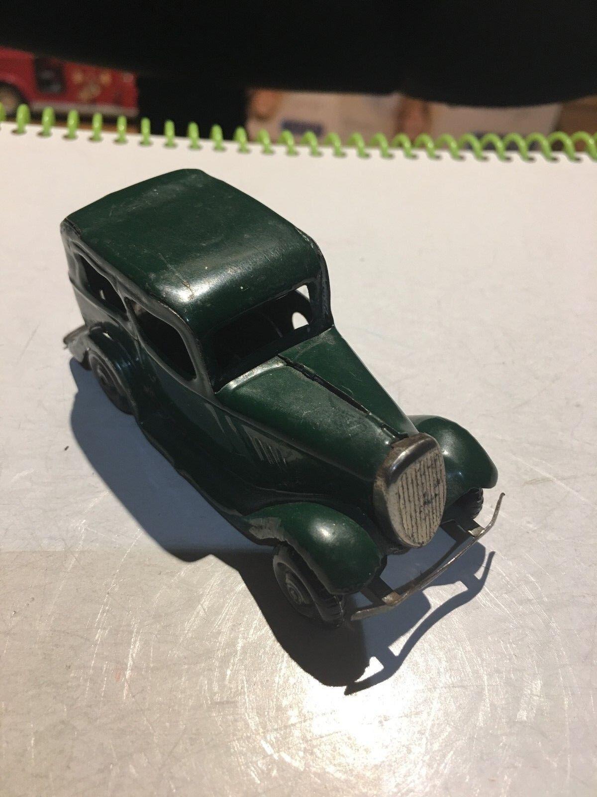 Awesome årgång Tri -Ang Minic leksaker Wind Up Tin 1930  1940 Ford bil, RARE