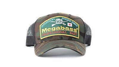 Megabass Classic Snapback Hat Logo Bass Fishing Hat Bass Fishing Apparel