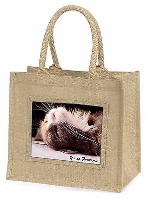 Katze in Ekstase dir für immer Große Natürliche Jute-einkaufstasche