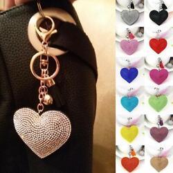 Anhänger Schlüsselbund Quaste Charme Herz Kristall Strass Handtasche Tasche