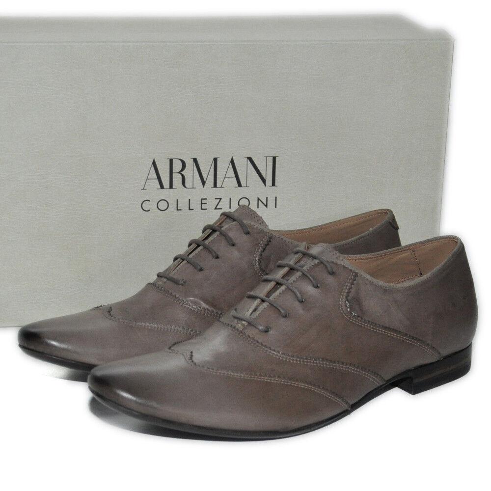 ARMANI COLLEZIONI Schuhe Casual Lederschuhe Schnürschuhe LEDER LUXUS UVP:350