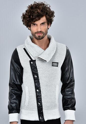 Casual da Uomo Designer LCR elegante a maglia maniche lunghe giacca con cappuccio Maglione Top