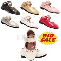 Girls Sandals kids Infant Children Casual  Wedding Bridesmaid Party Shoes Sz 3-7