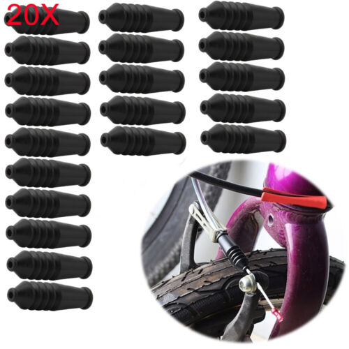 20X MTB Bicycle bike V brake inner wire end caps tips rubber boot dust cover