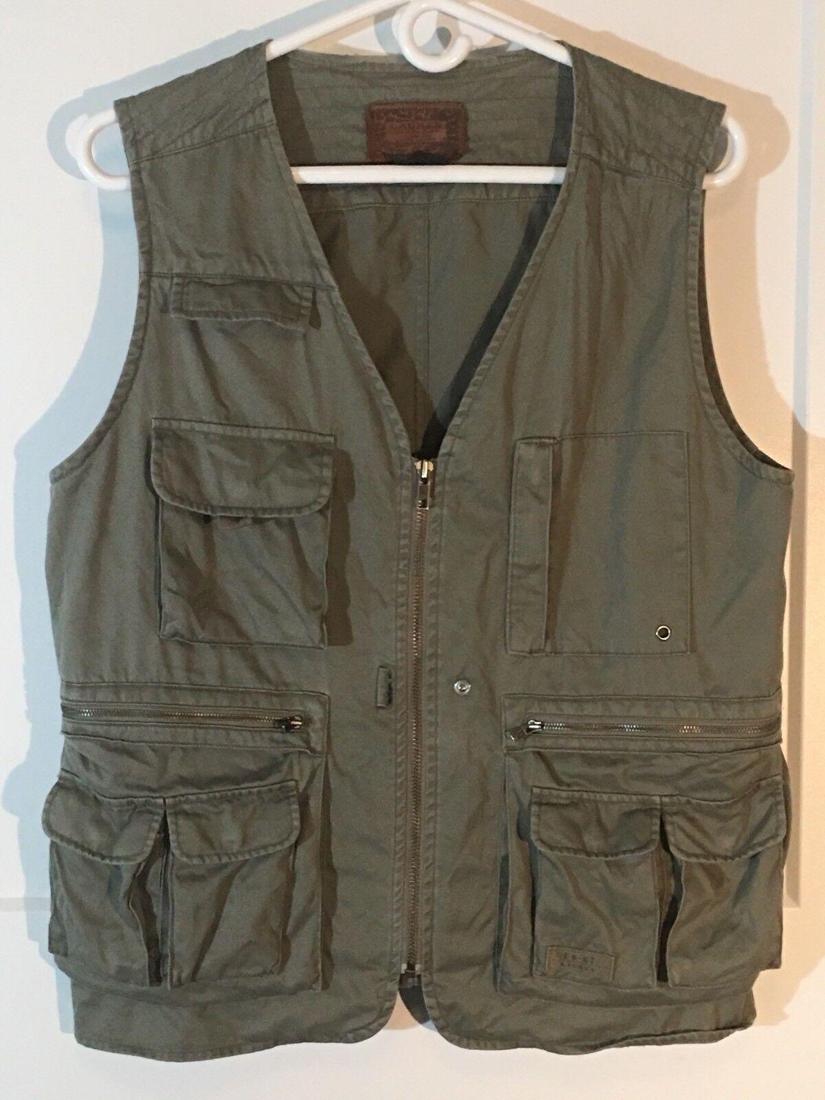 Ralph Lauren Größe S Sportsman Outfitter Vest Grün Khaki Fishing Photography Vtg