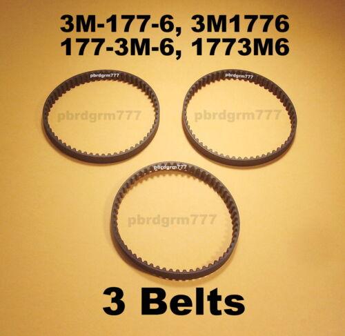 3 1773M6 New Geared Belts Three Belts 3M-177-6 3M1776 177-3M-6