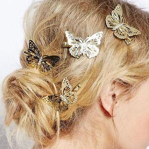 Or-papillon-clips-cheveux-epingles-a-cheveux-mariage-barrette-accessoires